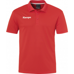 Kempa Poly Polo Shirt in rot