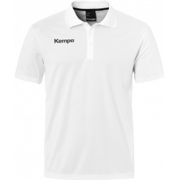 Kempa Poly Polo Shirt in weiß