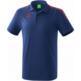 Erima Graffic 5-C Polo in new navy/rot