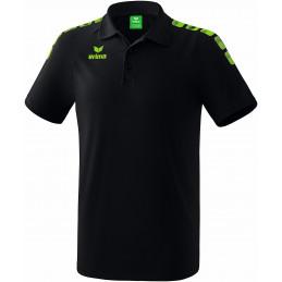 Erima junior Graffic 5-C Polo in schwarz/green gecko