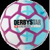 Derbystar Street Soccer Mini-Fussball in weiß/hellblau/lila