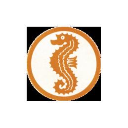 Beco Stoffzeichen Seepferdchen